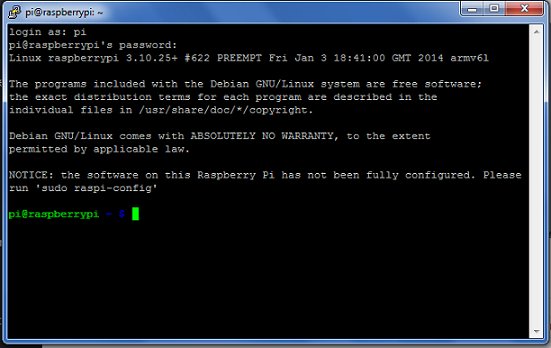 PuTTY Raspberry Pi SSH Login